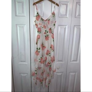 High-low casual/dressy floral dress.